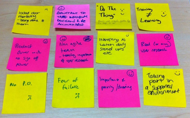 Notes from the Agile training workshop