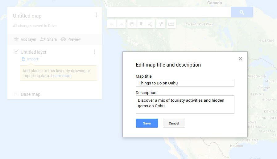 Creating Custom Travel Maps with Google My Maps   Digital Travel Notes Creating a New Map