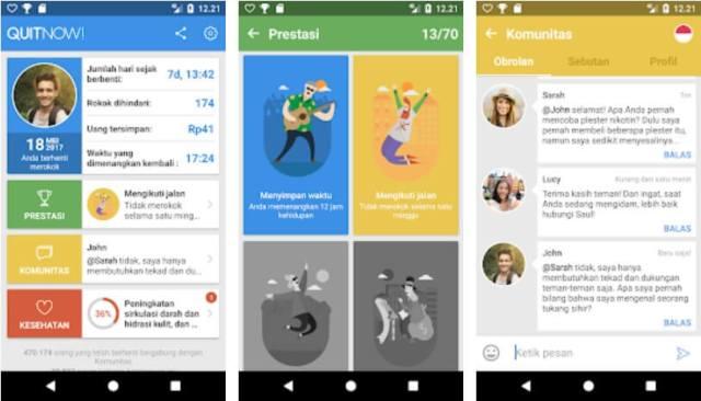 QuitNow Aplikasi untuk Membantu Berhenti Merokok