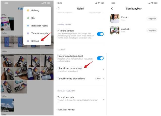 Cara Melihat Album yang Disembunyikan di Xiaomi