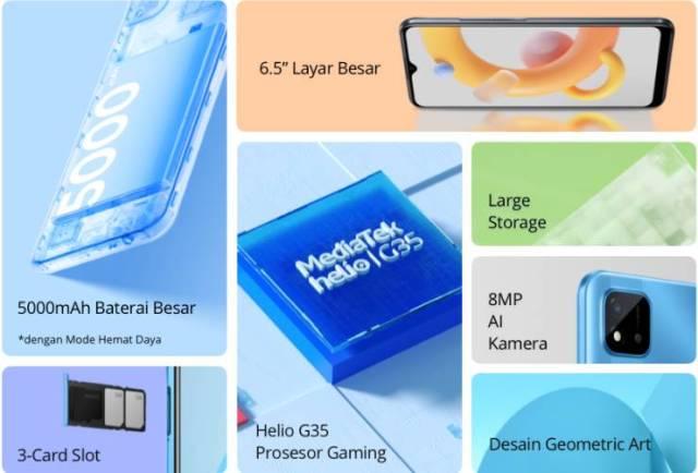 Cara Screenshot Layar HP Realme C20
