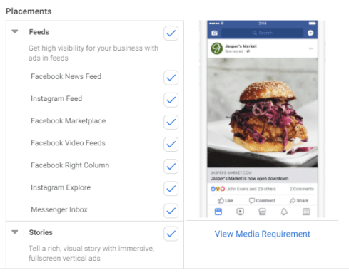 FAcebook Ads: Add Placements