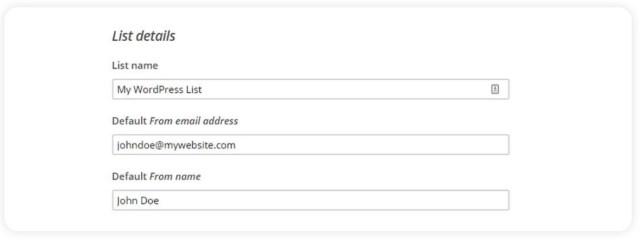List Details - Email Marketing