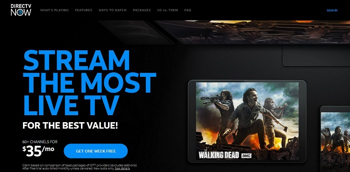 DIRECTV NOW Offers its New Users $30 for 3 Months Subscription