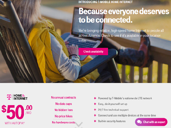 T-Mobile Home Internet Available Now for $50Month