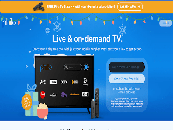 Philo to Give Free Fire TV Stick 4K's to Subscribers Who Prepay for Six Months