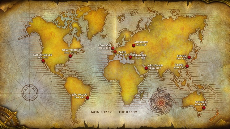 WoW Classic Name Reservations Map