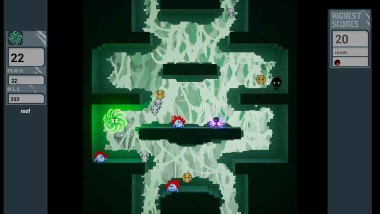 WarpThrough Platformer Game ss1