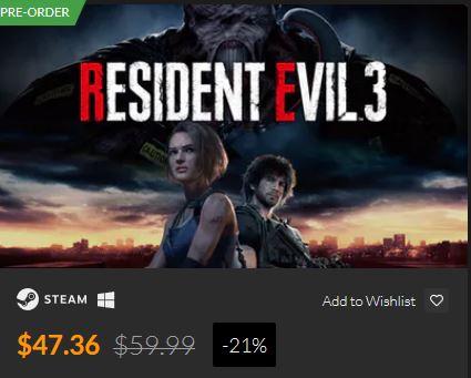 Fanatical Resident Evil 3 Digital Underground