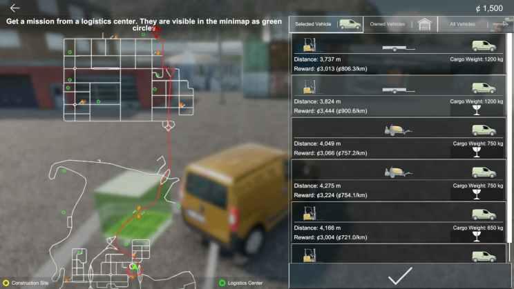 Truck & Logistics Simulator Review Mission List