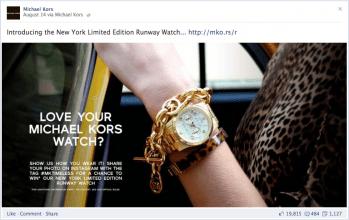 Michael Kors lance un concours sur Instagram