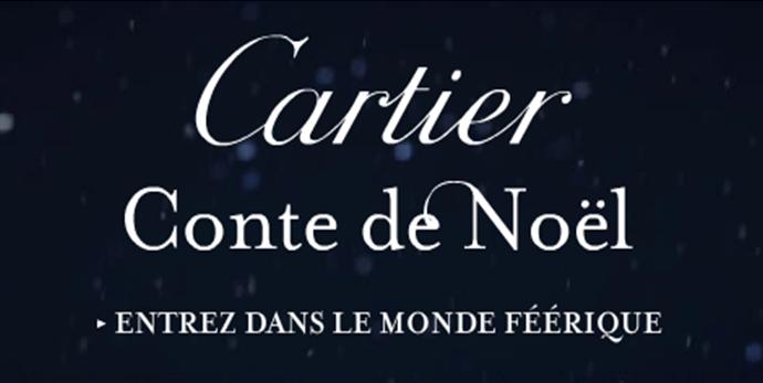 Nouvelle campagne Cartier Conte de noël