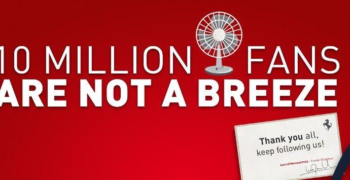 Ferrari remercie ses 10 millions de Fans