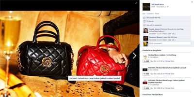 Michael Kors test Facebook Collections