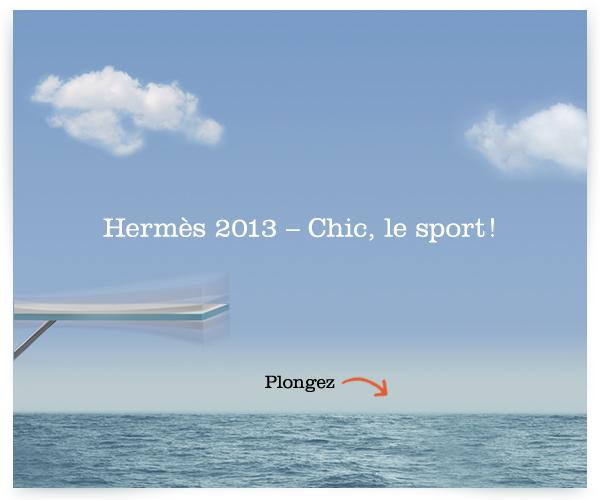 Hermès – voeux 2013 | Chic le sport