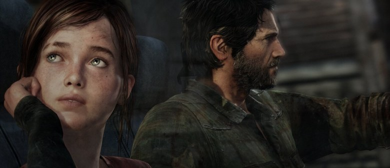 Joel and Ellie take a car ride in The Last of Us