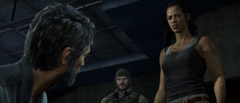 Joel and Marlene in The Last of Us