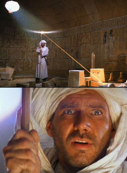 Map Room scene from Indiana Jones: Raiders of the Lost Ark