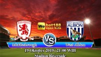 Prediksi Bola Middlesbrough vs West Bromwich Albion 19 Oktober 2019