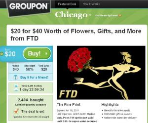 Groupon FTD deal Chicago