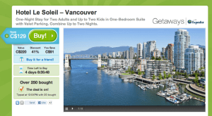 Groupon travel deal at Hotel le Soleil in Vancouver, CA