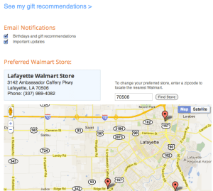 Shopycat finds your preferred Walmart store for gift delivery