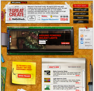 Radio Shack The Great Create online community for hobbyists