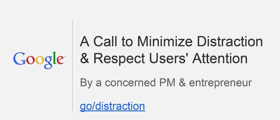 Distraction-Attention-Google