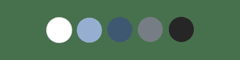 Palette de couleurs Association Jeanne d'Arc