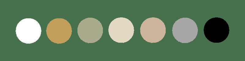 Palette de couleurs boutique Confidence