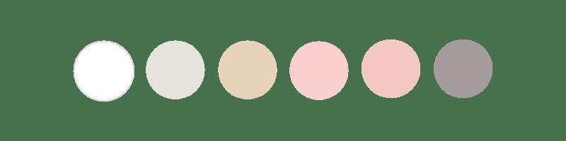 Palette couleurs site Emeline