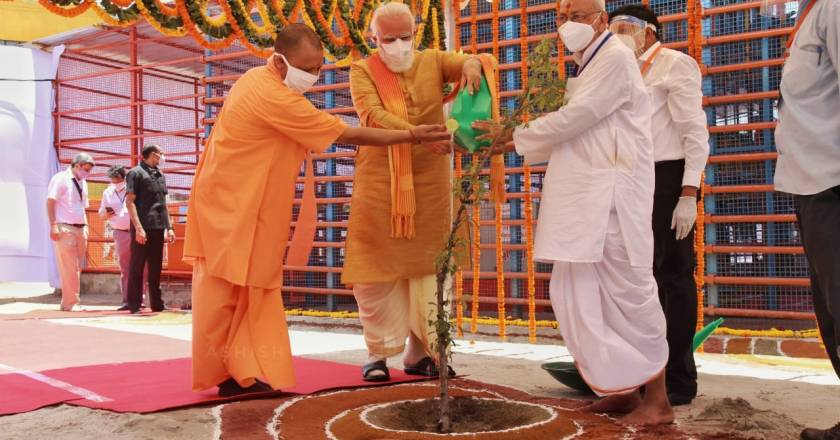 """Latest Pictures of """"Ram Temple Bhoomi Pujan"""", PM Modi Lays Foundation Stone, Visited Ayodhya after 29 Years."""