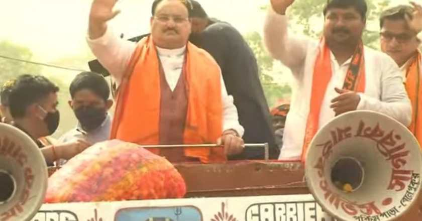 Watch Live: JP Nadda's Road Show in Pursurah, West Bengal