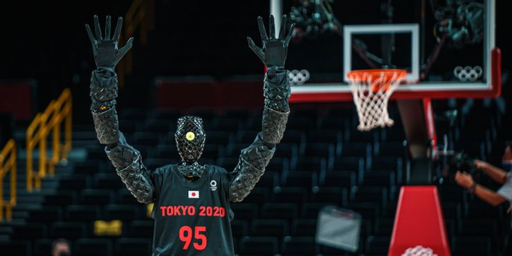 Tokyo Olympics 2020: Japanese basketball robot wows at half-time of USA-France game (Watch Video)