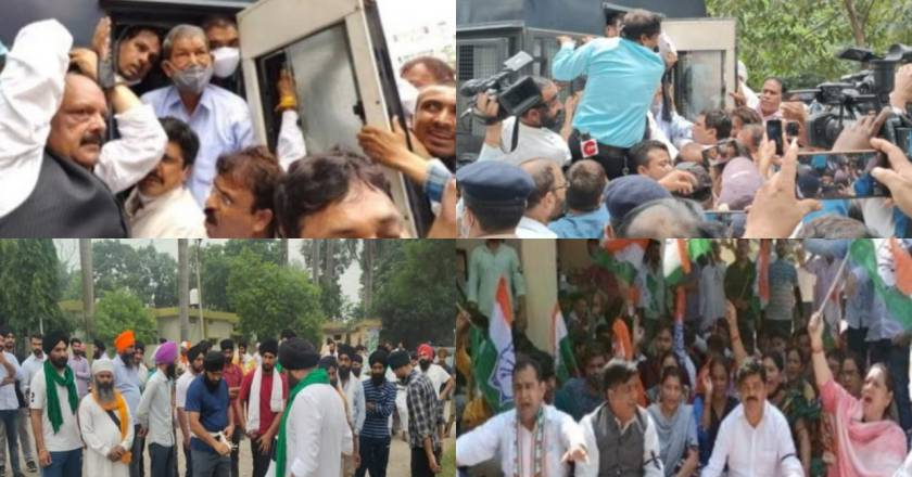 लखीमपुर खीरी हिंसा के विरोध में उत्तराखंड में किसानों और कांग्रेसी उतरे सड़क पर