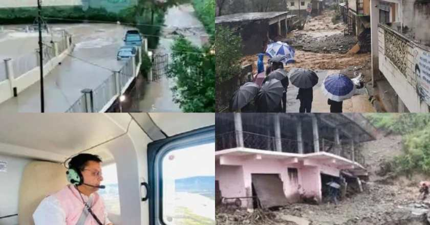 Uttarakhand rains: CM Pushkar Singh Dhami conducted an aerial survey, The death toll in rain-related incidents in Uttarakhand rose to 25