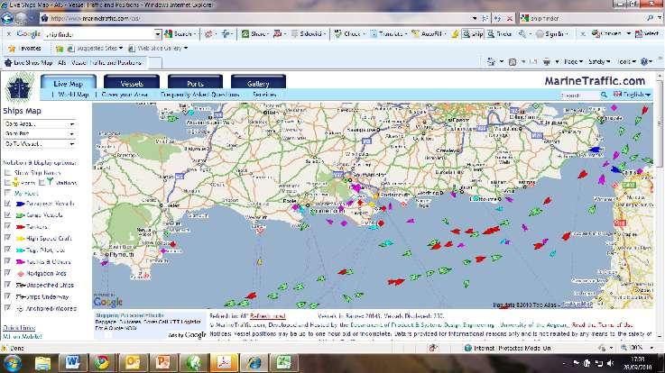 marrine traffic screenshot - Digital Yacht News