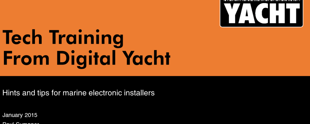 Digital Yacht Tech Training - A great resource