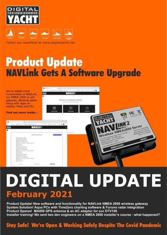 digital yacht newsletter February 2021