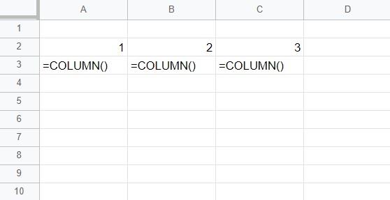 COLUMN函數