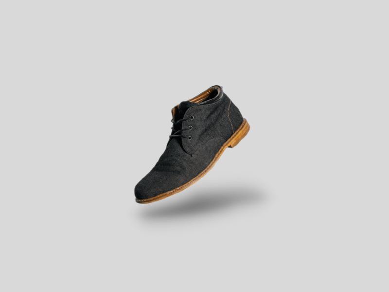 完成陰影效果設定的鞋子圖像