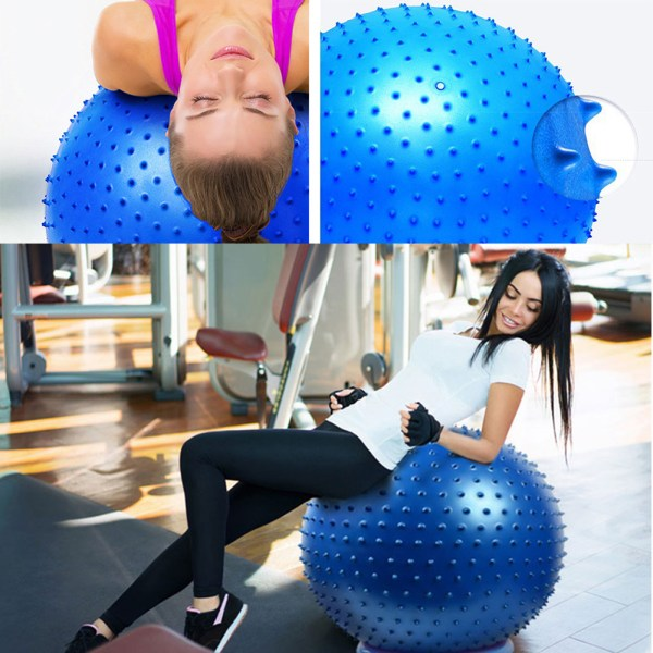 65CM Thickened Yoga Ball Environmental Protection Explosion proof Fitness Ball Thorn Massage Ball with Air Pump 4