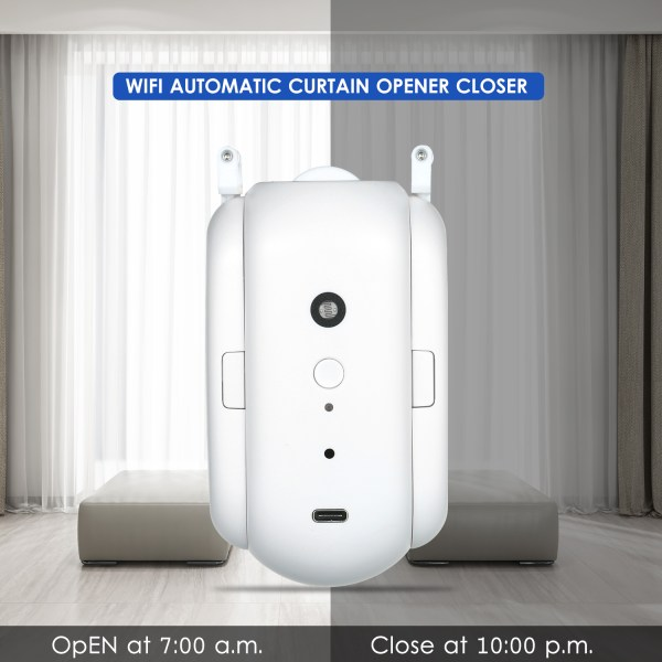 WiFi Automatic Curtain Opener Closer Robot Wireless Smart Curtain Motor Timer Voice Control Smart Home Automation 4