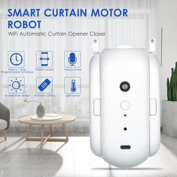 WiFi Automatic Curtain Opener Closer Robot Wireless Smart Curtain Motor Timer Voice Control Smart Home Automation