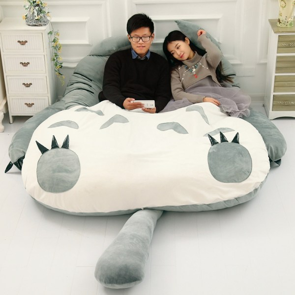 Totoro Lazy Bed Couch Tatami Mattress Chinchillas Lengthened Thickened Bed Cartoon Balcony Sofa Bedroom lounge bed 1