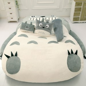Totoro Lazy Bed Couch Tatami Mattress Chinchillas Lengthened Thickened Bed Cartoon Balcony Sofa Bedroom lounge bed 3