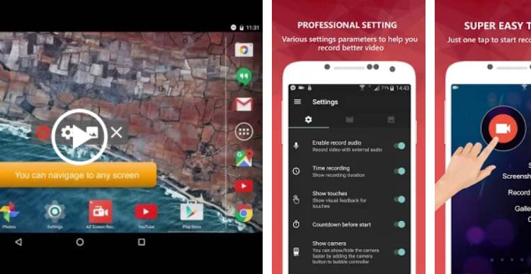 Aplikasi game recorder terbaik 2019 - AZ Screen Recorder