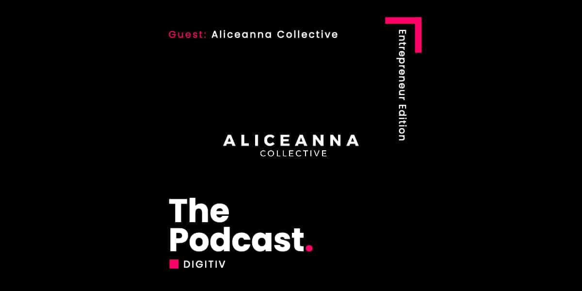 Digitiv blog header for the aliceanna collective podcast interview