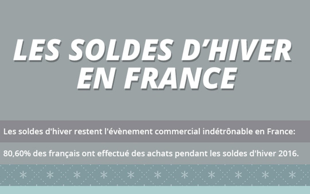 [Infographie] Les soldes d'hiver en France