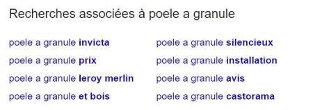Résultats associés Google